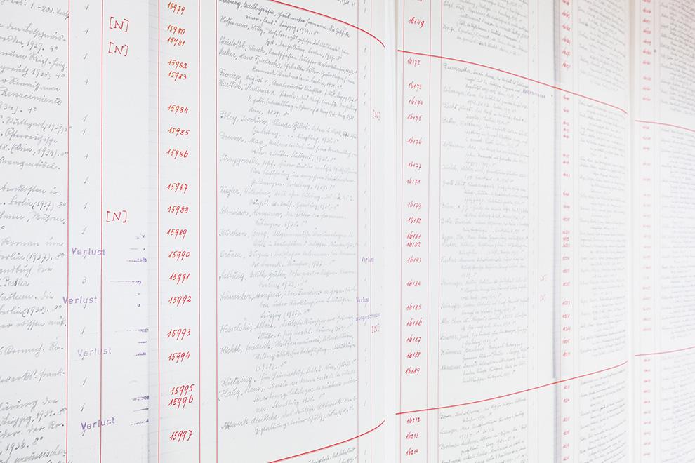 Elke-Krasny-u.-Barbara-Mahlknecht,-Unheimliche-Materialien.-Gruendungsmomente-der-Kunsterziehung,-Inventarlisten-Installation,-2016_Foto-Lisa-Rastl_(c)Akademie-der-bildenden-Kuenste-Wien_990